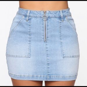 Born With Good Jeans Mini Skirt